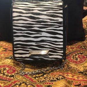 White House Black Market Zebra Calf Hair Bag NWT